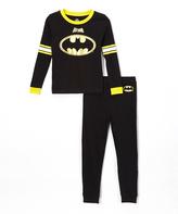 Intimo Batman Black Long-Sleeve Pajama Set - Toddler & Boys