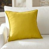 """Crate & Barrel Sunbrella ® Sulfur 20"""" Sq. Outdoor Pillow"""
