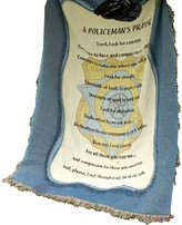 Manual Woodworker Manual Patriotic Collection 50 x 60-Inch Tapestry Throw, A Policeman's Prayer