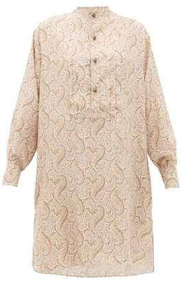 Etro Tiare Paisley-print Silk-satin Dress - Womens - White Multi
