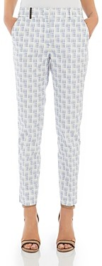 Peserico Abstract Print Ankle Pants
