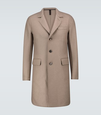 Harris Wharf London New Chester virgin wool coat