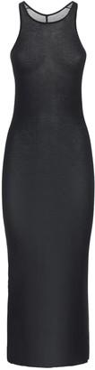 Rick Owens Viscose & Silk Jersey Tank Dress