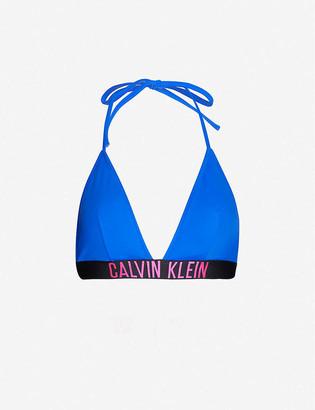 Calvin Klein Intense Power fixed triangle bikini top
