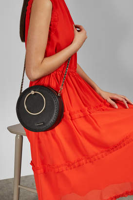 Ted Baker MADDDIE Stab stitch circle leather bag
