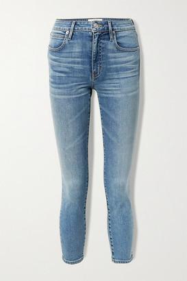 SLVRLAKE Lou Lou Cropped Mid-rise Slim-leg Jeans - Mid denim