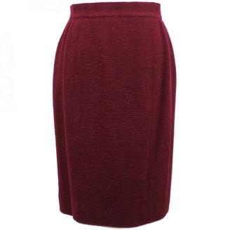 Chanel Burgundy Wool Skirts
