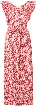 La DoubleJ Geometric Print Wrap Dress