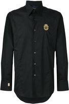 Billionaire embroidered logo shirt - men - Cotton/Spandex/Elastane - S