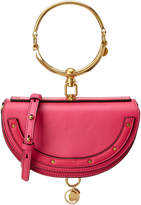 Chloé Nile Minaudiere Small Leather Bracelet Bag