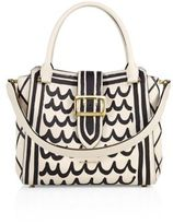 Burberry Medium Printed Leather Buckle Tote
