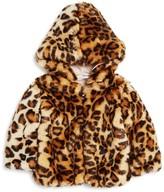 Splendid Girls' Faux-Fur Leopard-Print Jacket