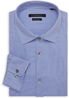 John Varvatos Spencer Regular-Fit Striped Dress Shirt