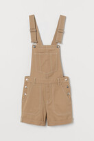 H&M Twill Overall Shorts - Beige
