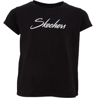 Skechers Girls Alia Jersey Print T-Shirt Black