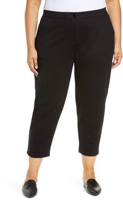 Eileen Fisher Slouchy Ankle Ponte Pants