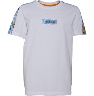 Jack and Jones Boys Junior Roger T-Shirt White