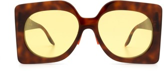 Gucci Gg0784s Havana Sunglasses