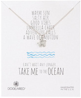 Dogeared Sterling Silver Take Me to the Ocean Turtle Necklace