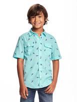 Old Navy Linen-Blend Pocket Shirt for Boys
