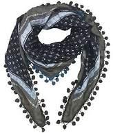 NEW Chloe silk scarf with pompom trim Women's by Charli Bird