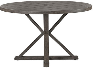 """Lane Venture Mystic Harbor Outdoor 48"""" Dining Table - French Grey"""