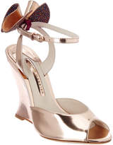 Sophia Webster Rizzo Holographic Leather Wedge Sandal