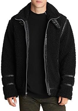 Karl Lagerfeld Paris Faux Shearling Moto Jacket