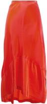 Colville asymmetric hem textured skirt