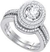 DazzlingRock Collection IGI CERTIFIED 1 3/4 Total Carat Weight DIAMOND 1 Total Carat Weight CENTER OVAL BRIDAL SET