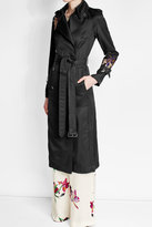 Victoria Beckham Embroidered Crepe Trench Coat