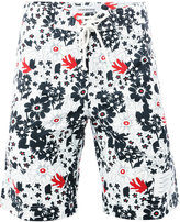 Thom Browne floral print swim shorts - men - Nylon - 0