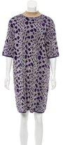 Dries Van Noten Patterned Metallic Dress