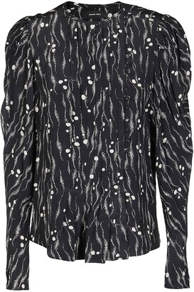 Isabel Marant Patterned Puff Sleeve Blouse