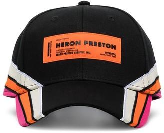 Heron Preston black logo racer cap