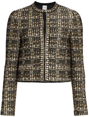 St. John Metallic Boucle Tweed Knit Jacket