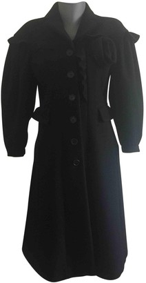 Moschino Black Wool Coat for Women
