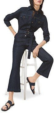 MICHAEL Michael Kors Denim Flared Leg Jumpsuit