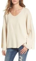 Moon River Women's V-Neck Sweater