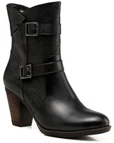 Vicenzo Leather Zoey Chunky Heel Ankle Leather Boots