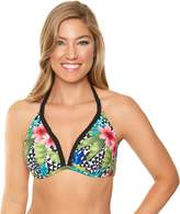 Women's Aqua Couture Bust Enhancer Tropical Push-Up Bikini Top