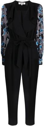 Diane von Furstenberg Janice floral-print straight-leg jumpsuit