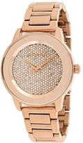 Michael Kors Kinley MK6210 Women's Rose Gold-Tone Watch with Crystal Accents