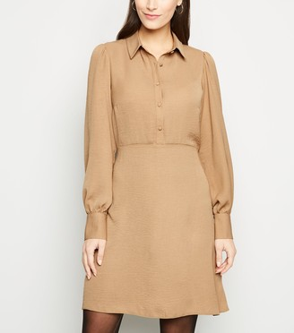 New Look Collared Long Sleeve Shirt Dress