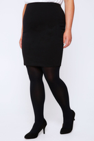 Yours Clothing Black Jersey Tube Skirt