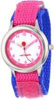 Red Balloon Kids' W000194 Pink Velcro Stainless Steel Time Teacher Watch