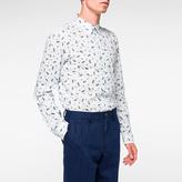 Paul Smith Men's Tailored-Fit Sky Blue 'Paisley' Print Shirt