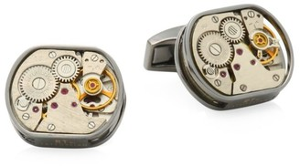 Tateossian Skeleton Window Tonneau Cufflinks
