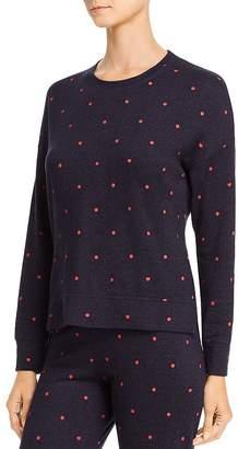 Sundry Polka Dot High/Low Sweatshirt