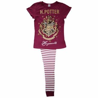 World Of Fables Womens Harry Potter Pyjamas Cosy 100% Cotton PJs - H.Potter Maroon UK 16-18